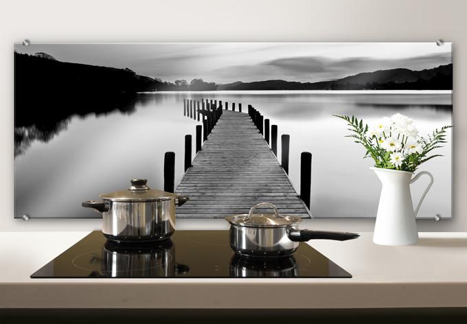 spatscherm steiger zwart wit wall. Black Bedroom Furniture Sets. Home Design Ideas
