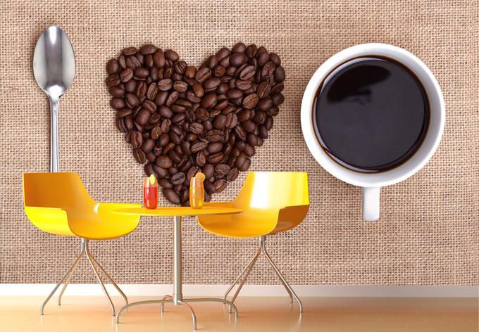 I love coffee photo wallpaper wall - Tapete cappuccino ...