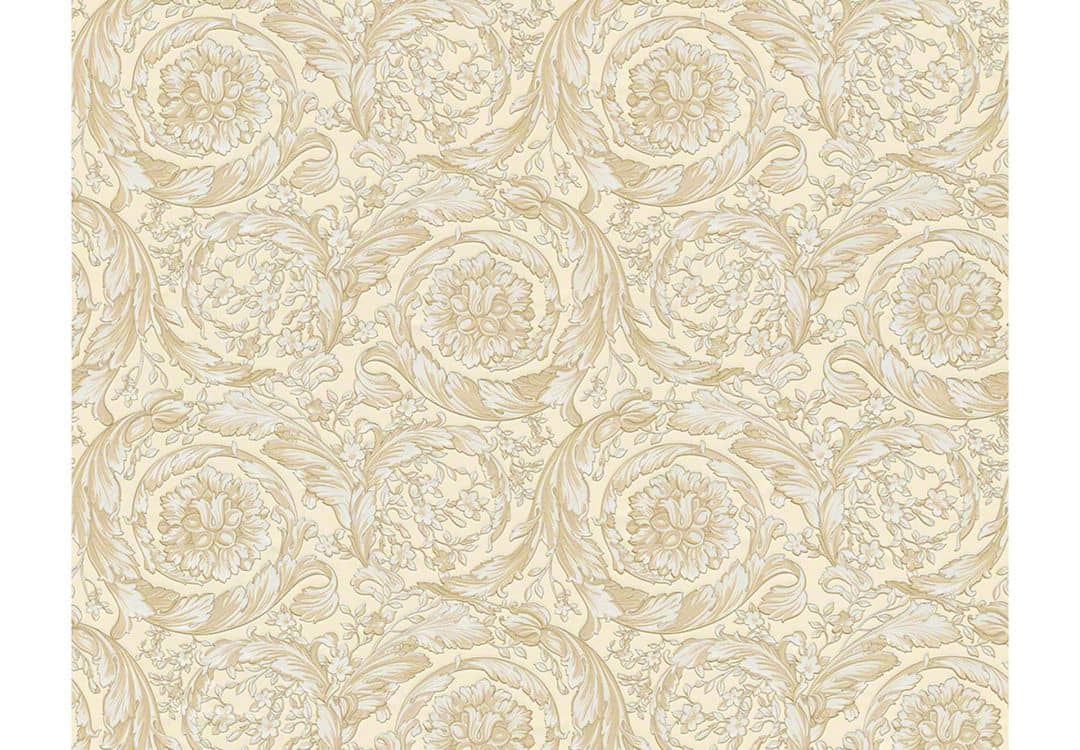versace wallpaper tapete barocco flowers beige creme. Black Bedroom Furniture Sets. Home Design Ideas
