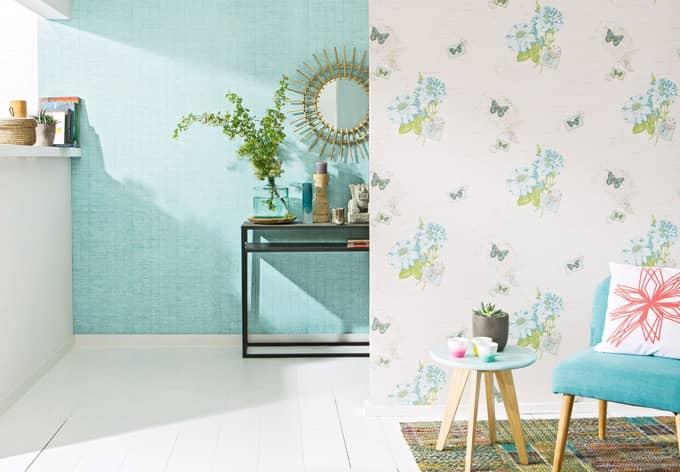 a s cr ation tapete bali beige blau gr n wall. Black Bedroom Furniture Sets. Home Design Ideas