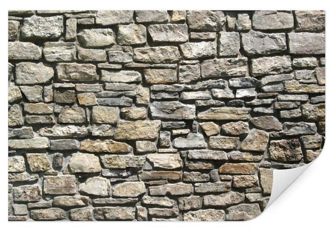 wallprint natursteinmauer behagliches wohnfeeling f r. Black Bedroom Furniture Sets. Home Design Ideas