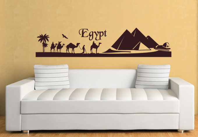 wandtattoo egypt wall. Black Bedroom Furniture Sets. Home Design Ideas