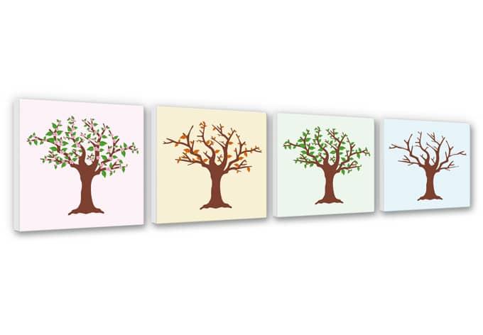 Four Seasons Canvas Print (4 parts)
