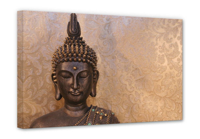 wandbild mit buddha asiatische deko wall. Black Bedroom Furniture Sets. Home Design Ideas