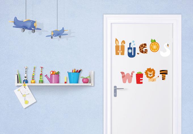 wandtattoo name kinder alphabet wall. Black Bedroom Furniture Sets. Home Design Ideas