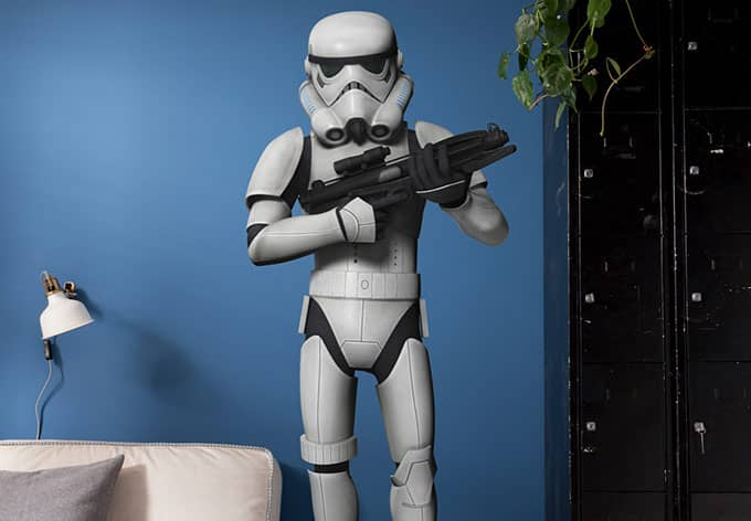 wandsticker star wars stormtrooper 14722h wall. Black Bedroom Furniture Sets. Home Design Ideas