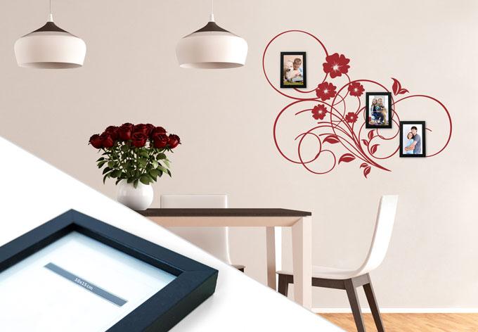wandtattoo bl hendes tribal inkl 3 bilderrahmen wall. Black Bedroom Furniture Sets. Home Design Ideas