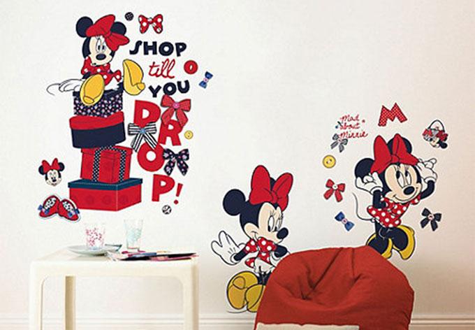 Maxi wandsticker minnie mouse wall - Wandtattoo minnie maus ...