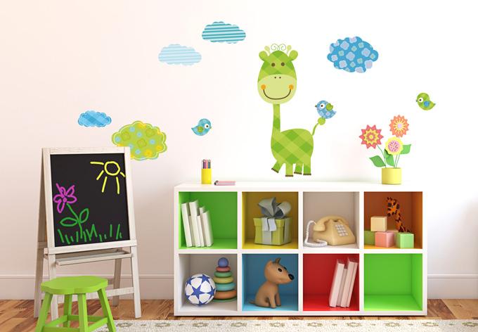wandtattoo lustige tiere set 01 muster wall. Black Bedroom Furniture Sets. Home Design Ideas