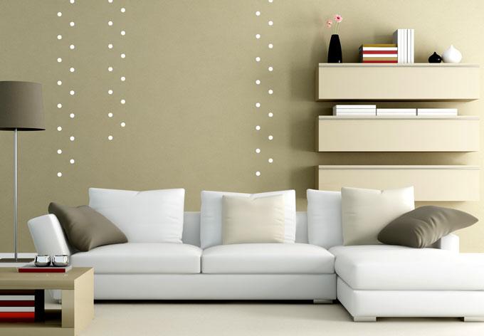 wandtattoo punkte set 50 teilig wall. Black Bedroom Furniture Sets. Home Design Ideas