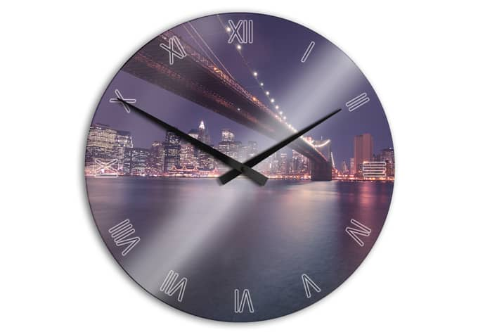acryl wanduhr lights in new york city wall. Black Bedroom Furniture Sets. Home Design Ideas