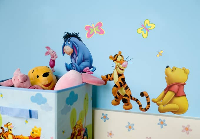 wandsticker set winnie puuh von disney 54 tlg wall. Black Bedroom Furniture Sets. Home Design Ideas
