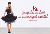 Give a girl the right shoes... 1 80x42cm