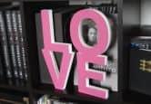 Dekobuchstaben - Dekobuchstaben 3D LOVE pink