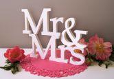 Dekobuchstaben - Dekobuchstaben 3D Mr & Mrs -Serife-