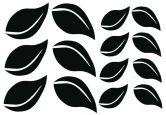 Wandtattoo - Wandtattoo Blätter-Set 1