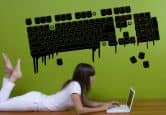 Wandtattoo - Wandtattoo Hot Keyboard 150x76cm