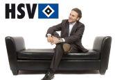 Wandtattoo - Wandtattoo HSV Logo mit Schriftzug
