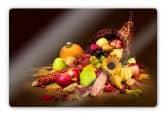 Glasbilder - Glasbild Herbst im Füllhorn