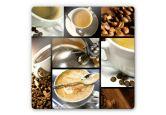 Glasbilder - Glasbild Kaffee Vielfalt
