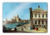 Glass Prints - Canaletto - The entrance to the Grand Canal Glass art