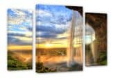Seljalandsfoss Waterfall Canvas print (3 parts)