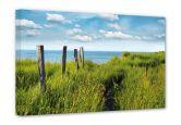 Leinwandbilder - Leinwandbild Weg zum Meer 90x60 cm