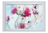 Sichtschutz - Sichtschutzfolie Mohnblumen Aquarell 45x30 cm