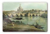 Glasbilder - Glasbild Canaletto - Dresden vom rechten Elbufer