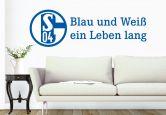 Wandtattoo - Wandtattoo Schalke 04 Blau und Weiß ein Leben lang 60x19cm