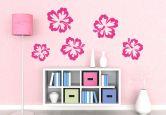 Wandtattoo Hibiskusblüten 5er-Set