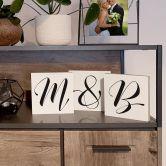 Dekobuchstaben zum Hinstellen - Schreibschrift - 15x15 cm