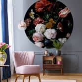 Photo Wallpaper Heem - Stilleben with flowers - Round