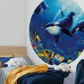 Fototapete Orcas Lebensfreude - Rund
