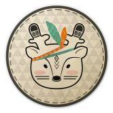 Wandcirkel Hout Indian Deer