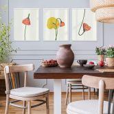 Poster Set con cornice – Fiori colorati
