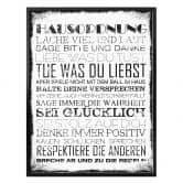 Poster Hausordnung