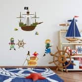 Wandtattoo Piratenwelt 1