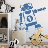Wandtattoo Roboter Finn