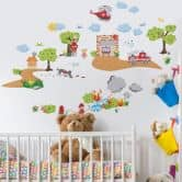 Fire Department Set Wall stickers