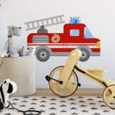 Adesivo murale -camion dei pompieri