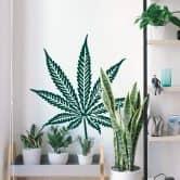 Sticker mural - Cannabis