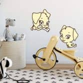 Cute Puppy Wall sticker