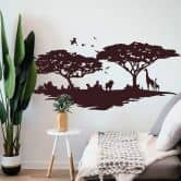 Sticker mural - Savane