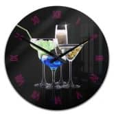 Wanduhr Girly Cocktails