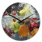 Acrylic Wall Clock Refreshing Fruits