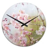 Acrylic Wall Clock Cherry Blossoms