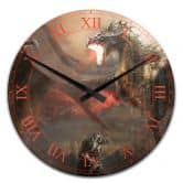 Acrylic Wall Clock Fight with Dragon