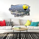 3D Wandtattoo BVB Heißluftballon
