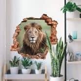 3D Sticker mural van Duijn - Sous le regard du lion